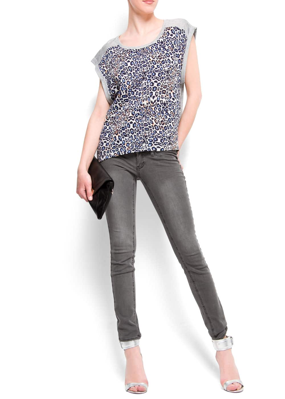 Color leopard print t-shirt | MANGO