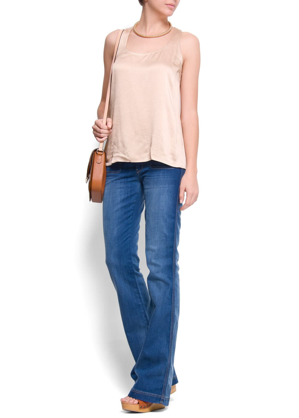 Relaxed-fit racerback blouse | MANGO