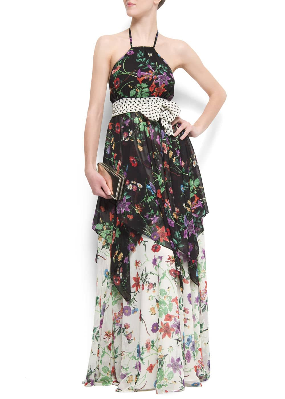 Flower maxi-dress | MANGO