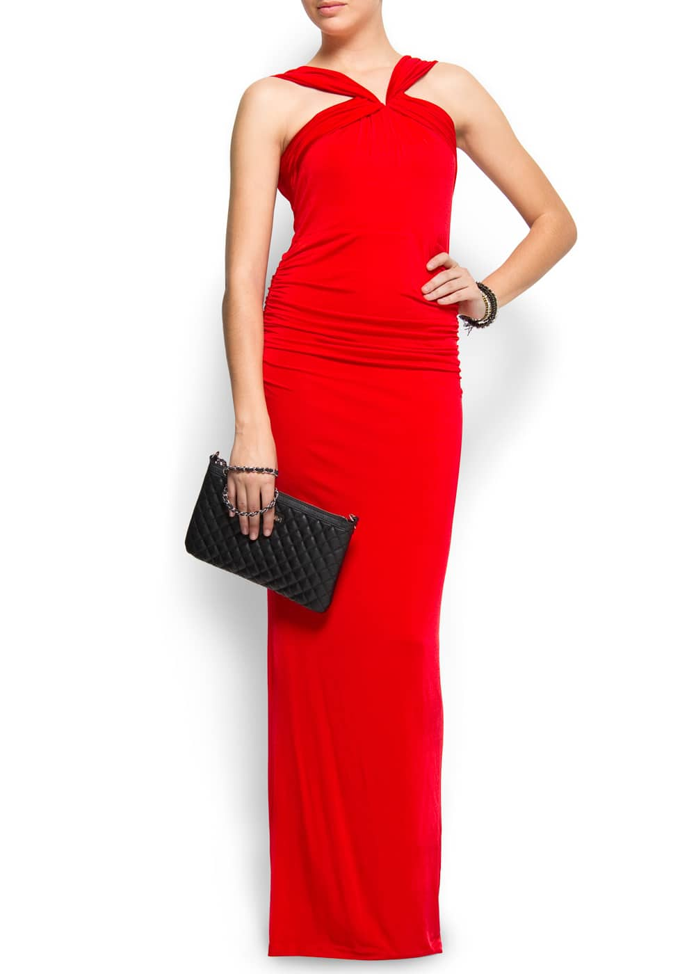 V-shape back maxi-dress | MANGO