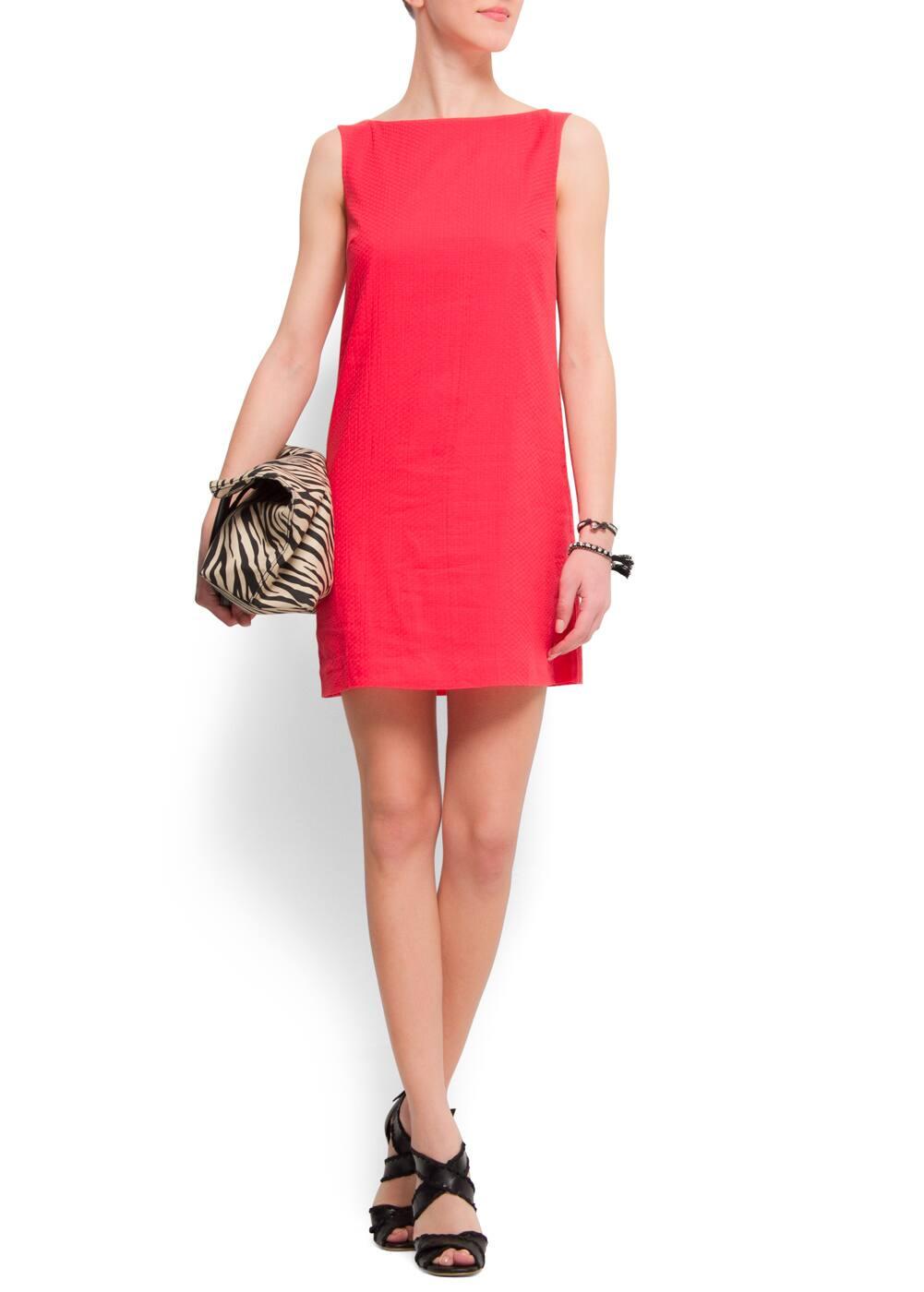 Straight-cut cotton dress | MANGO