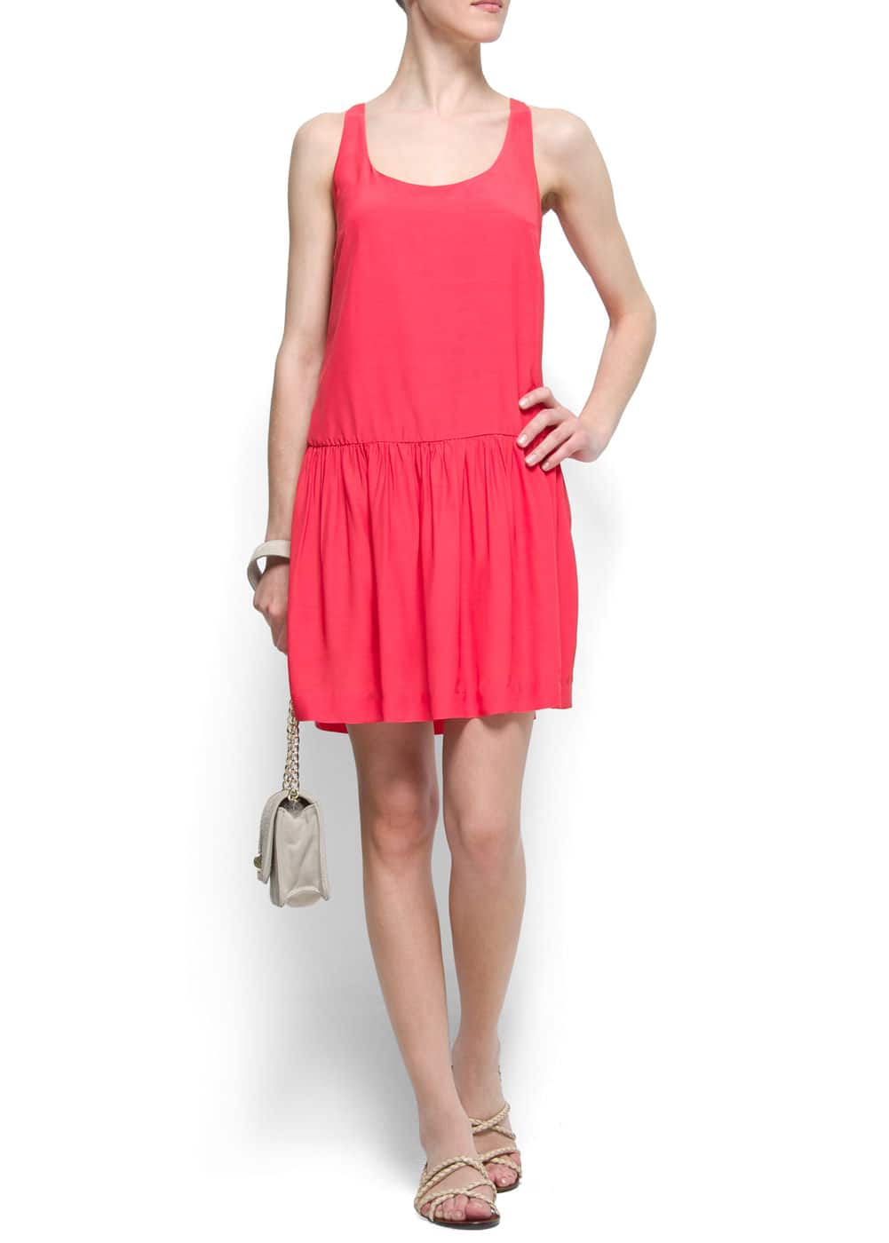Loose-fit pleated dress | MANGO