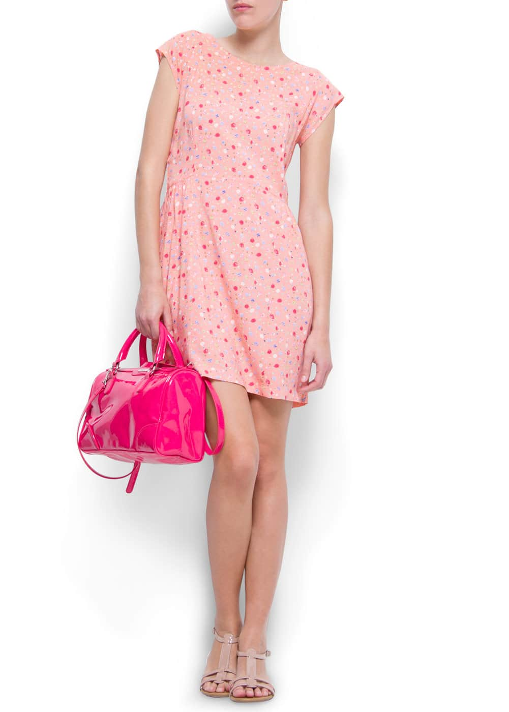 Print loose-fit dress | MANGO