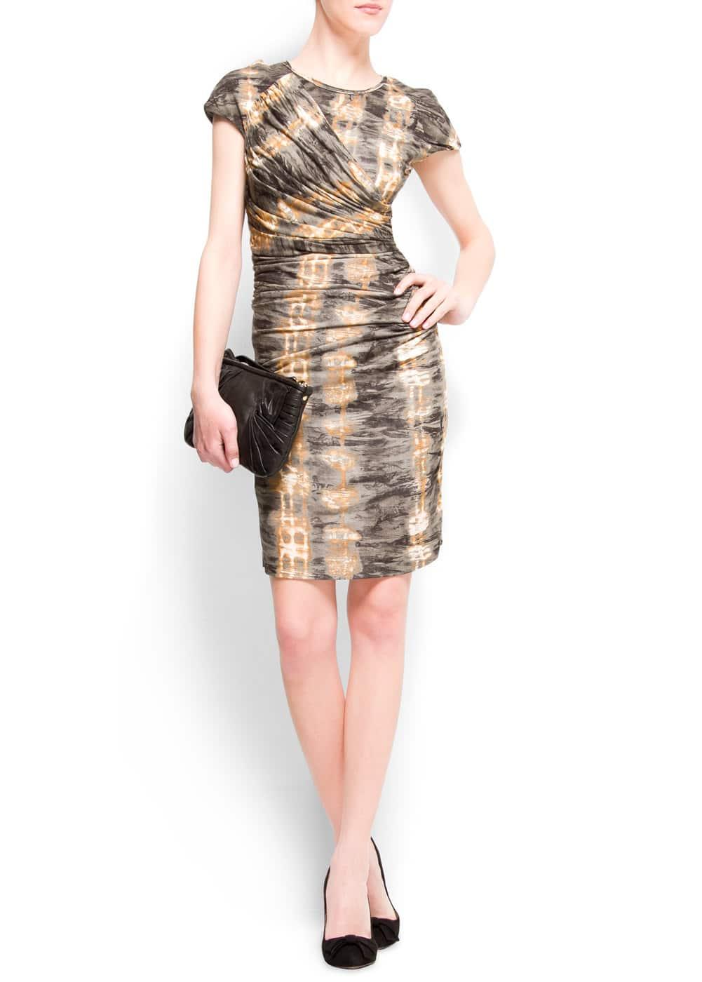 Tie-dye drape dress | MANGO
