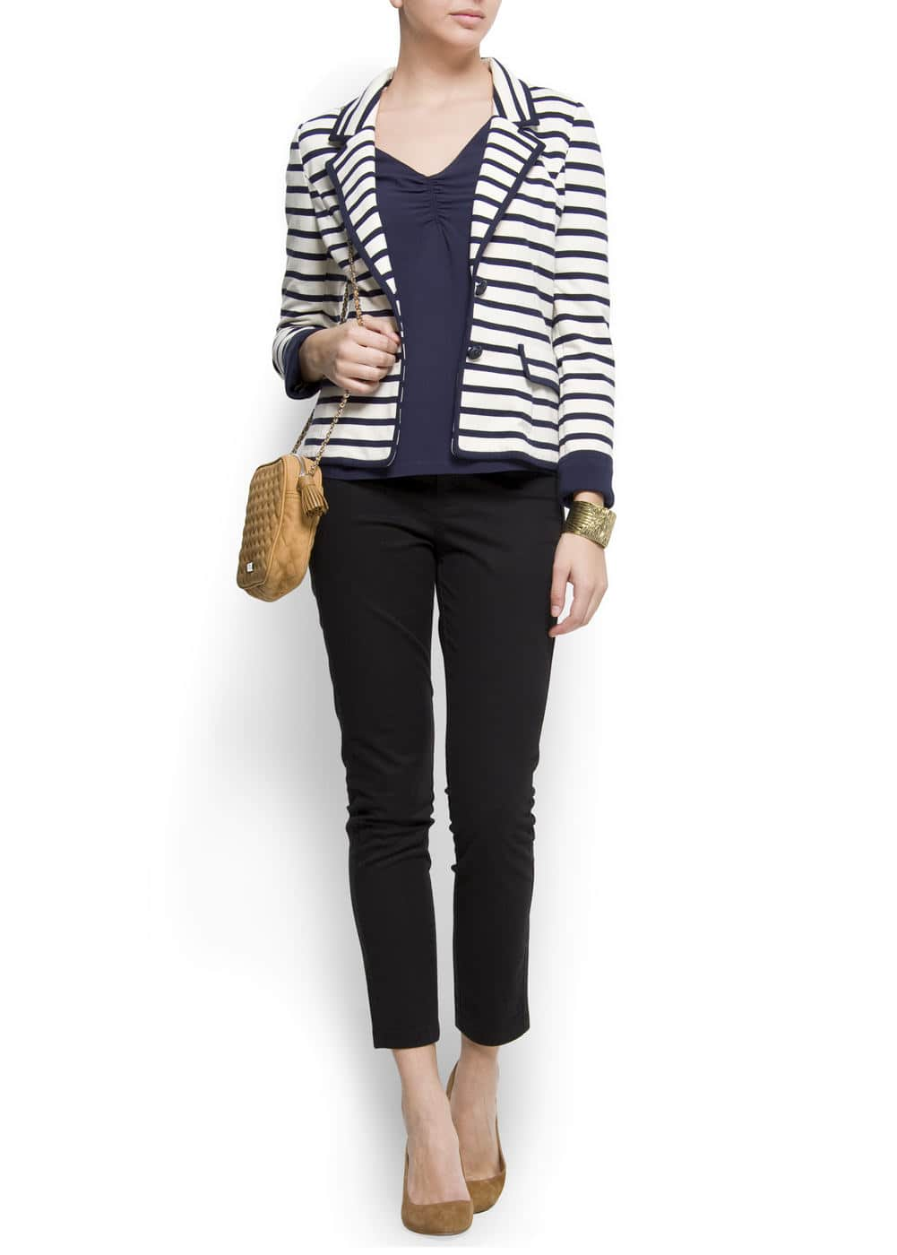 Cotton sailor blazer | MANGO