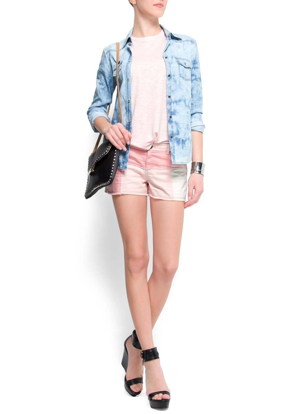 Tie-dye denim shirt | MANGO