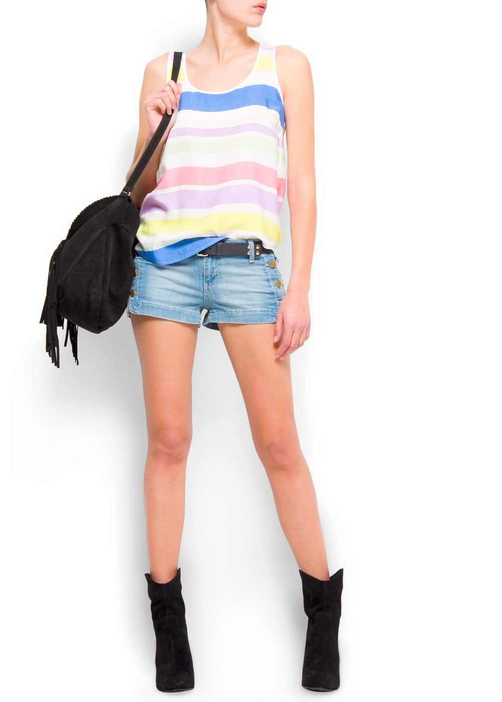 Colored stripes top | MANGO