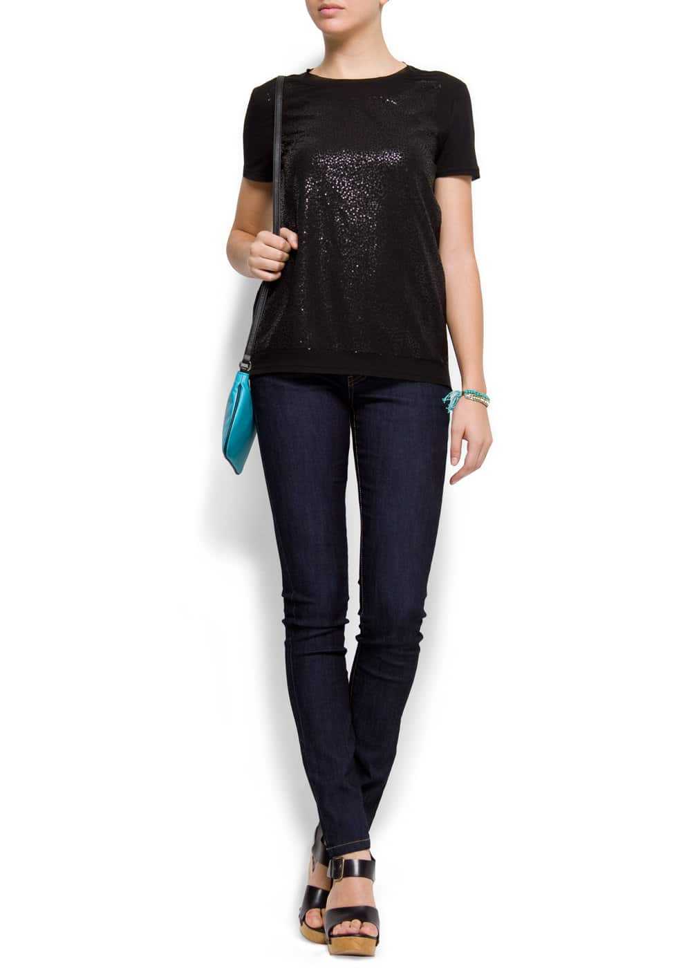 Sequin t-shirt | MANGO