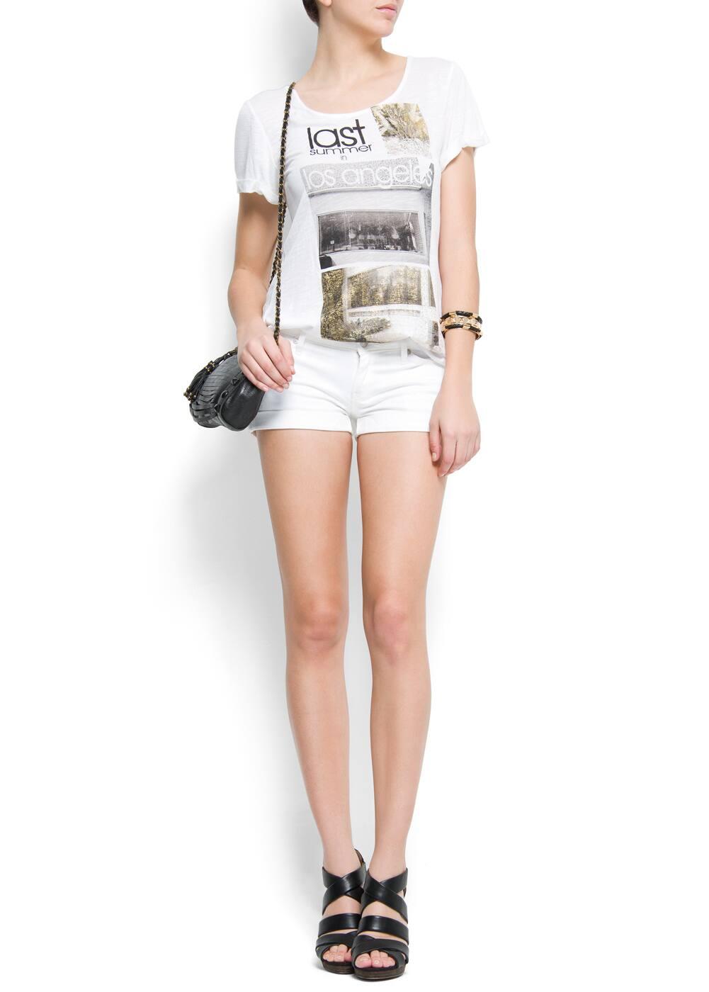 Los angeles print t-shirt | MANGO