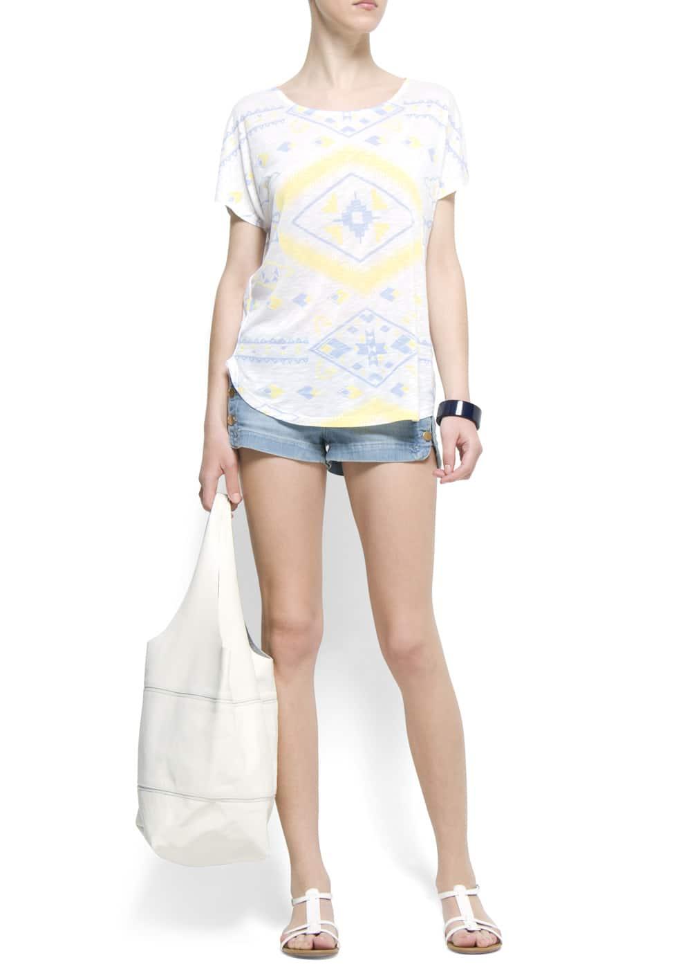 Ethnic style t-shirt | MANGO