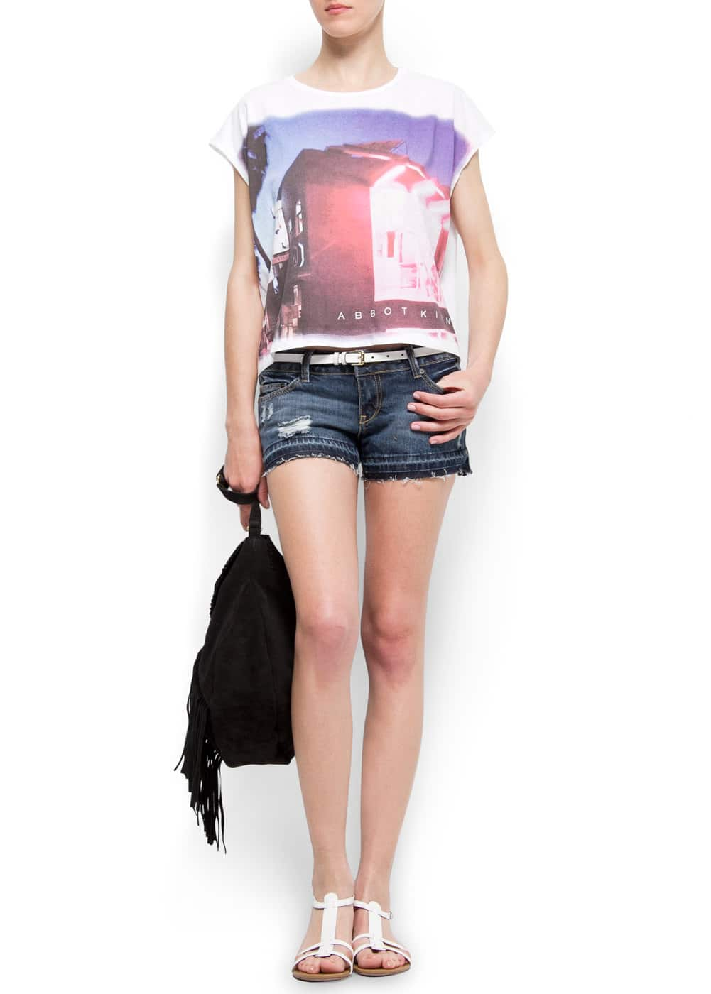 Blurred photo t-shirt | MANGO