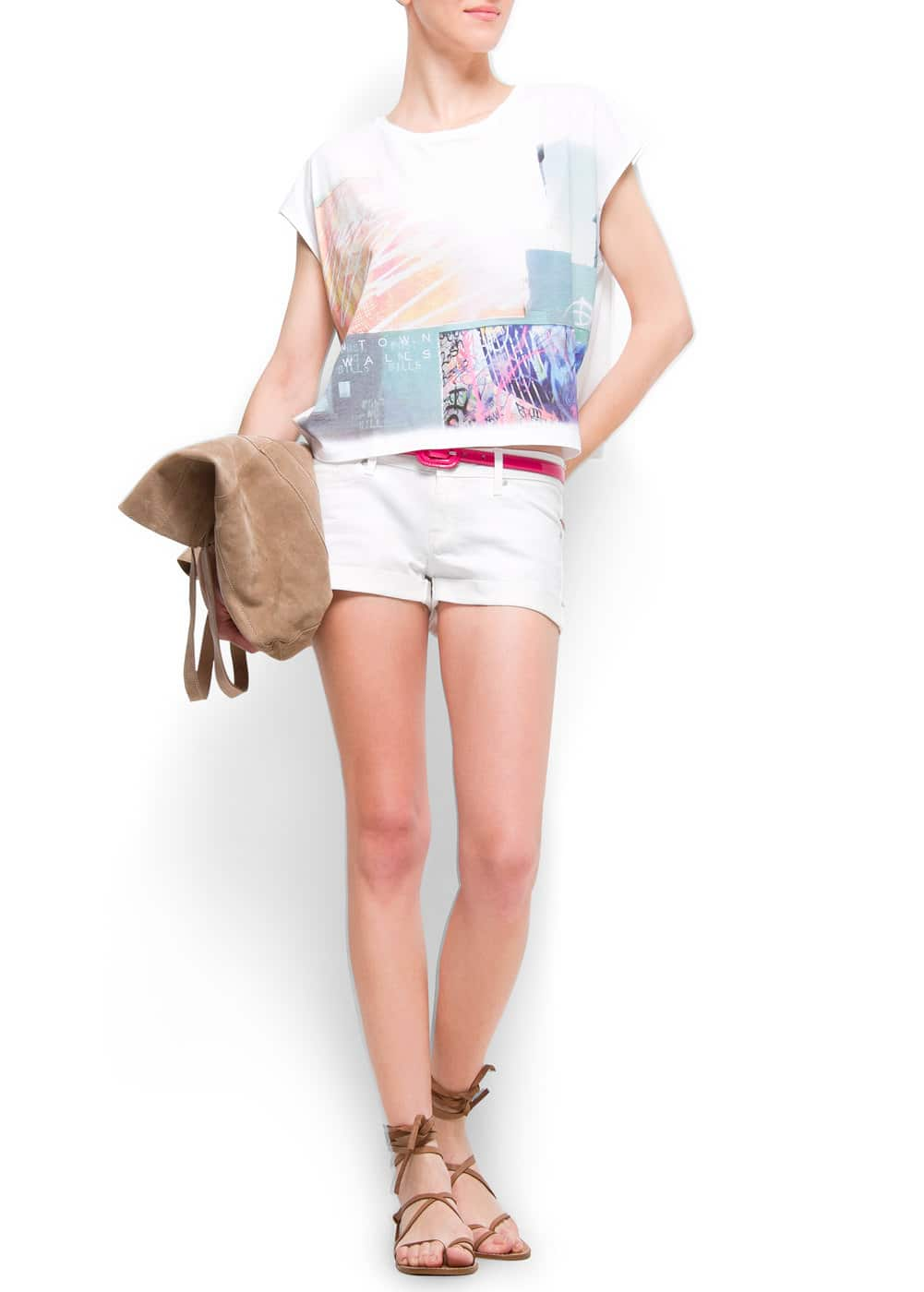 Blurred photo t-shirt | MANGO