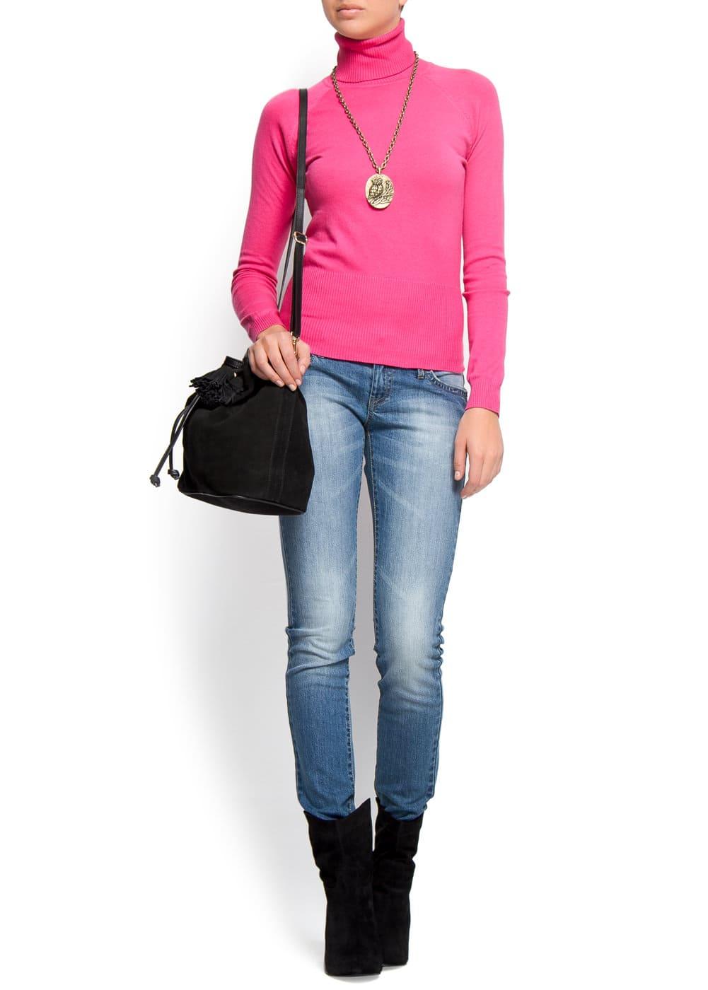 Turtleneck cotton jumper | MANGO