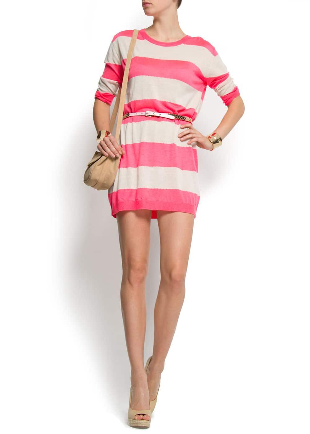 Striped knit dress | MANGO