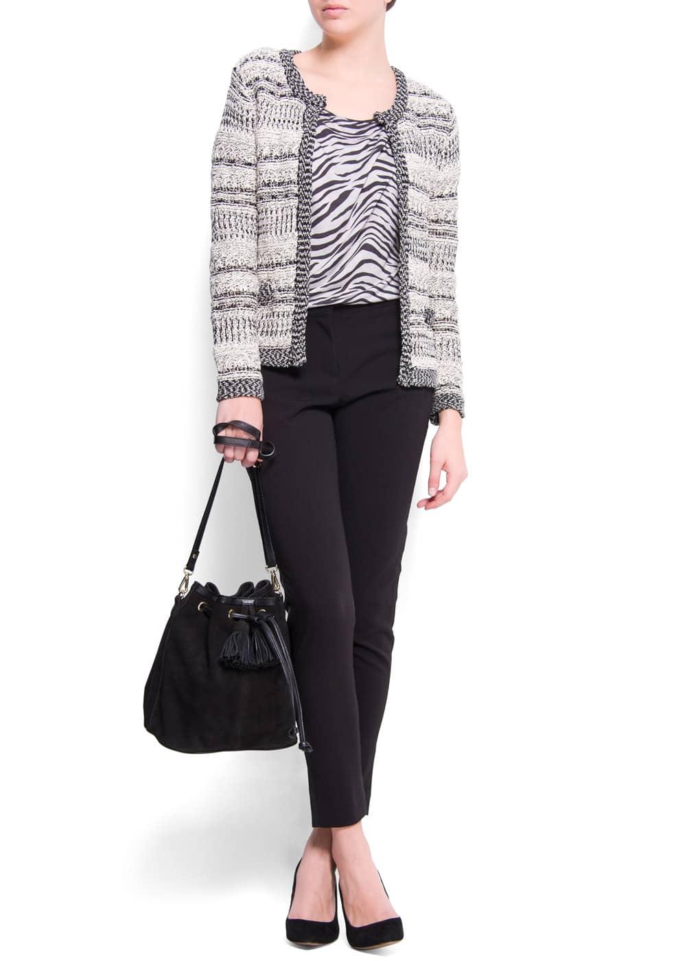 Knitted jacket | MANGO