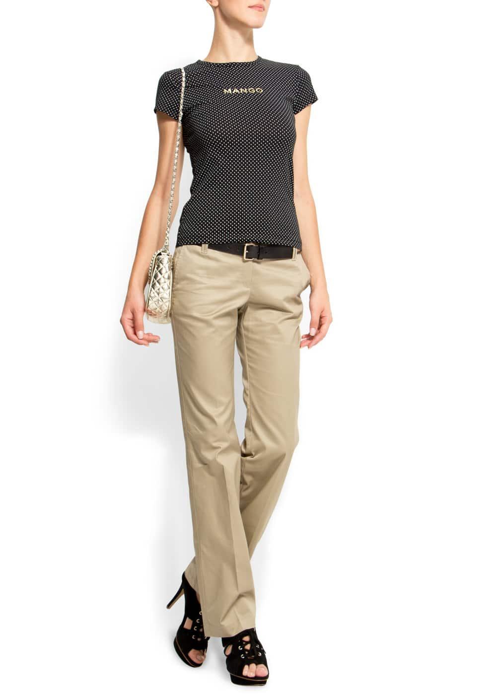 Straight-leg chino trousers | MANGO