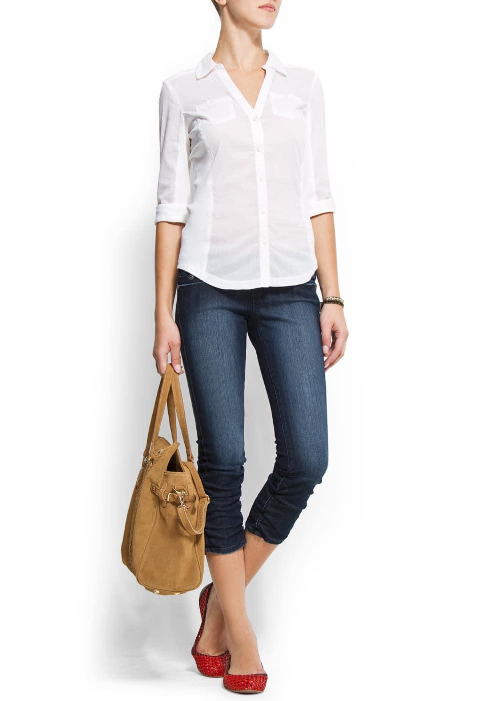 Super stretch capri jeans   MANGO