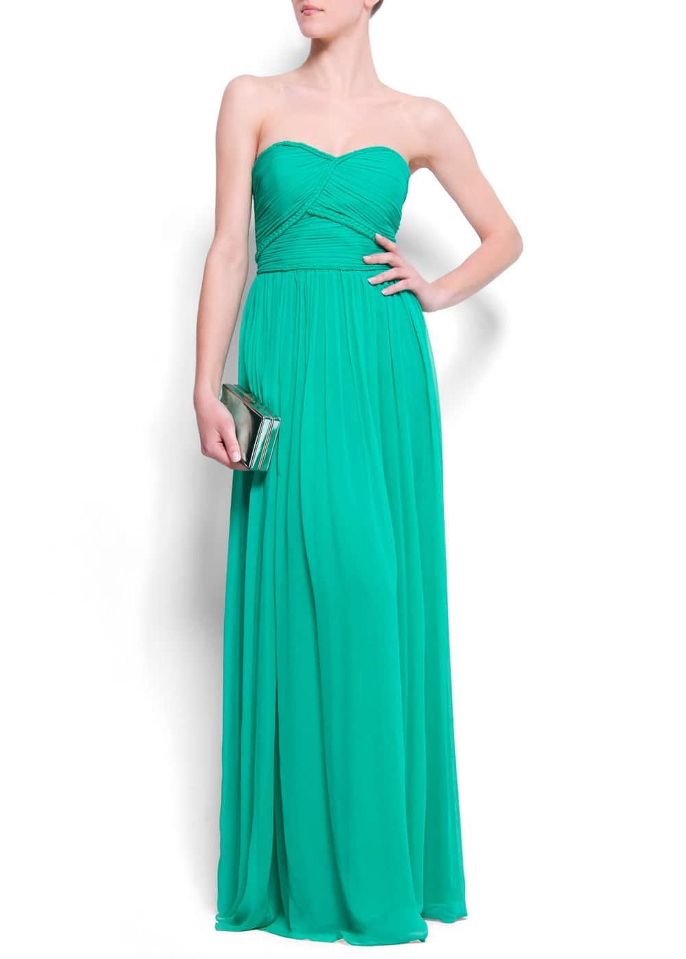 Strapless gown | MANGO