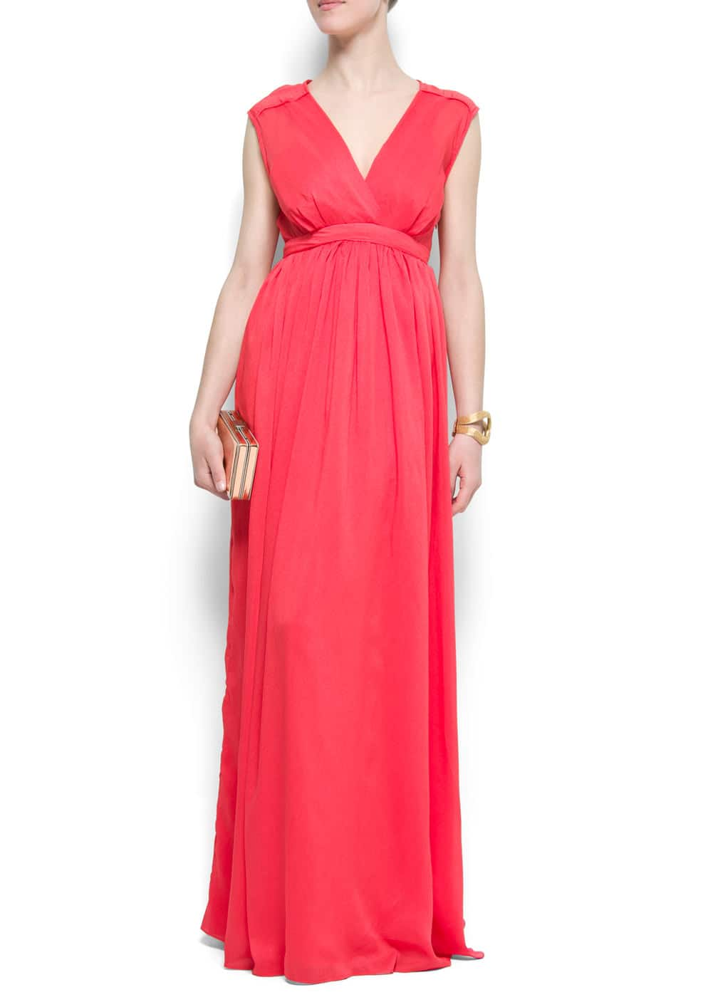 V-neck gown | MANGO