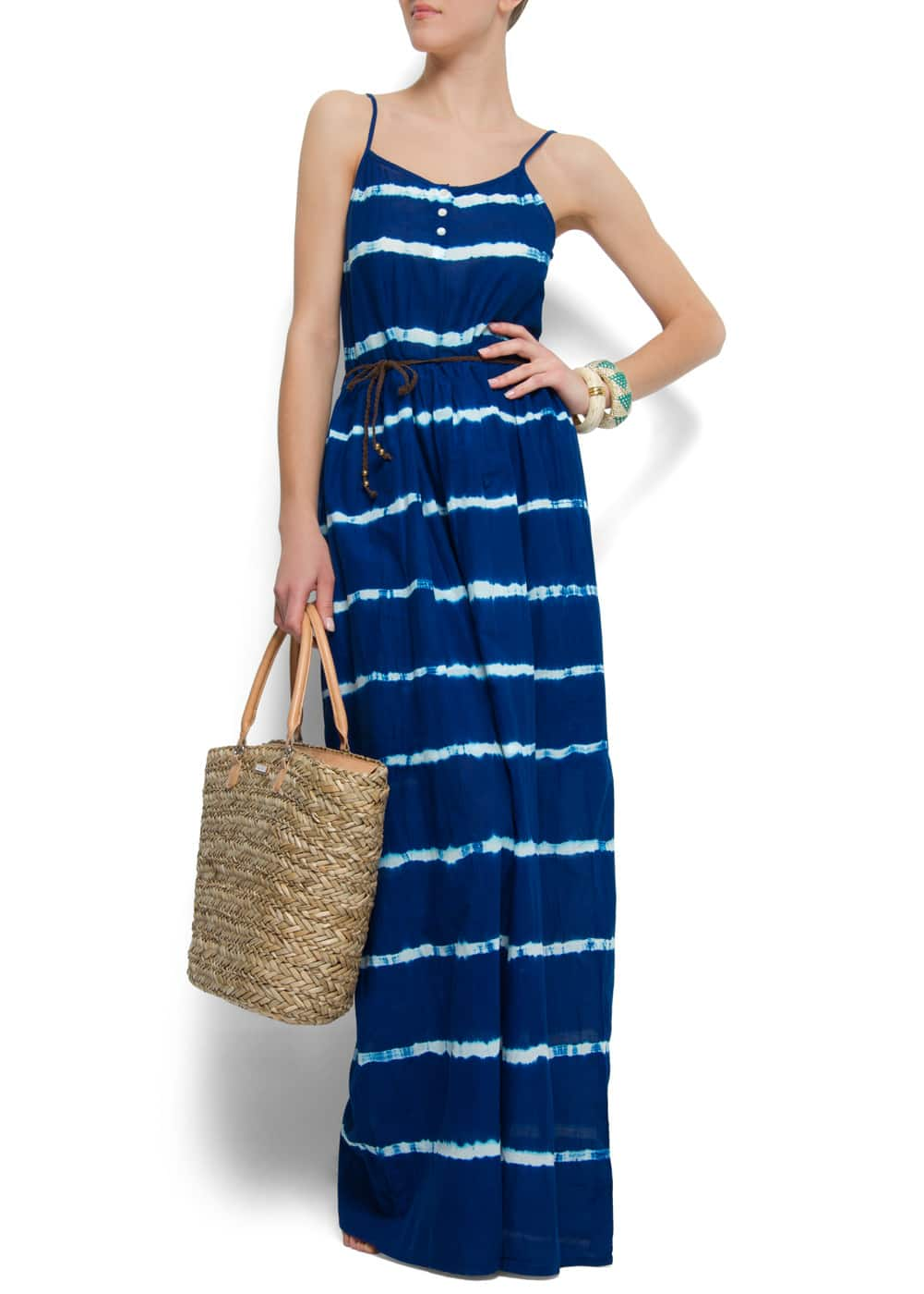 Tie-dye maxi-dress | MANGO