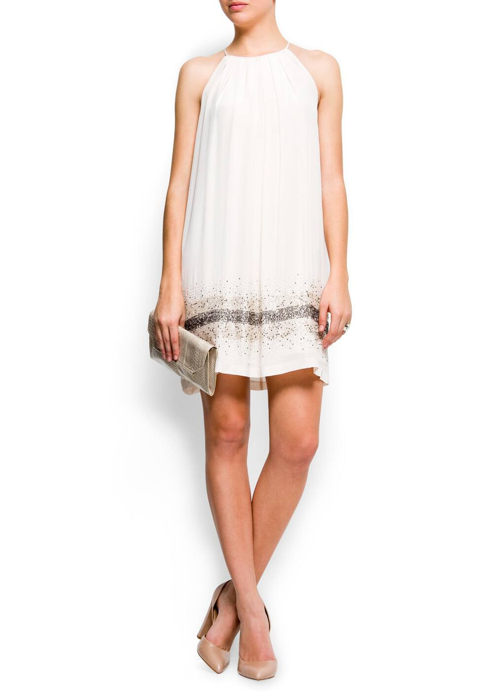 Shiny cocktail dress | MANGO