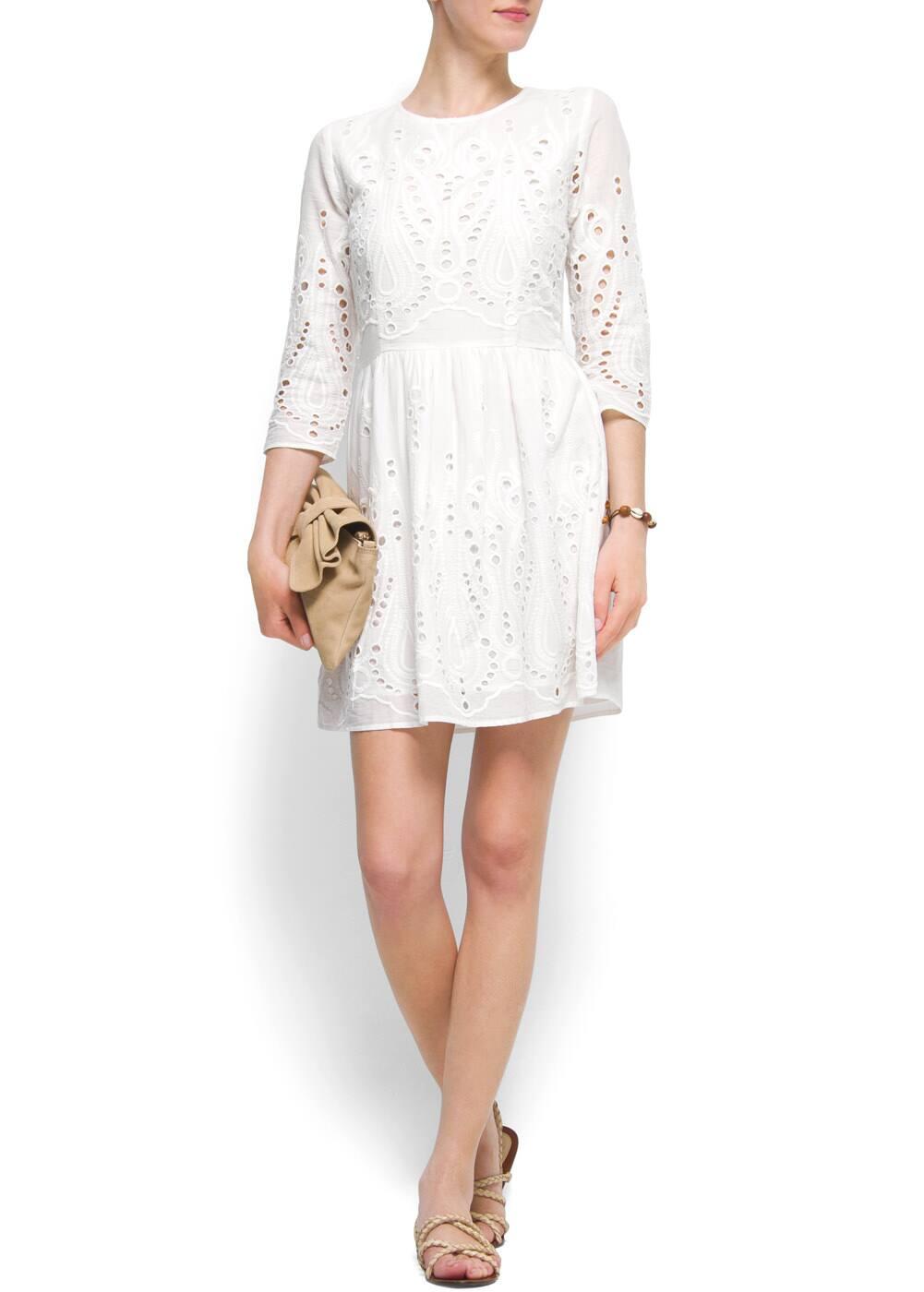 Broderie dress | MANGO