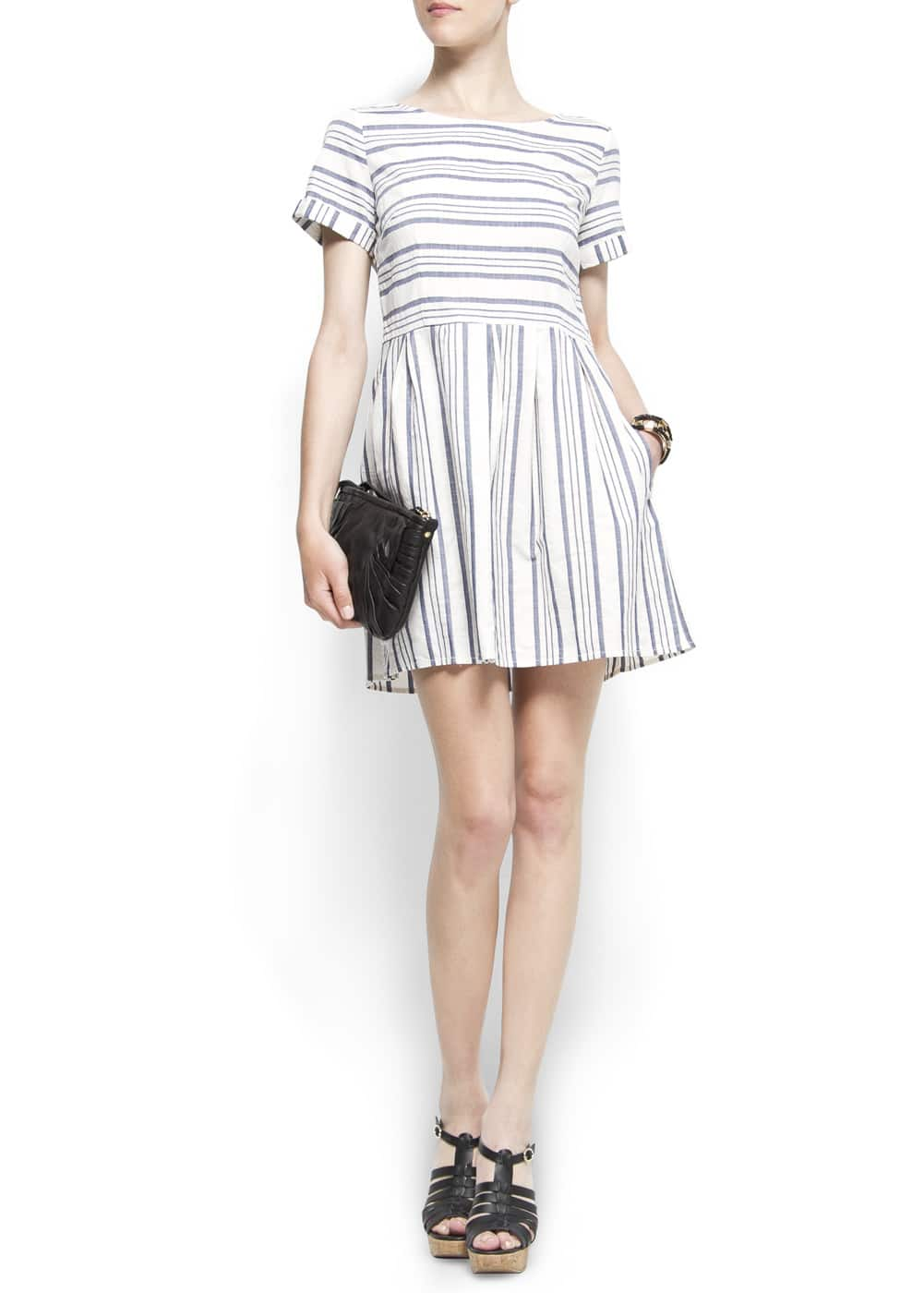 Navy doll dress | MANGO