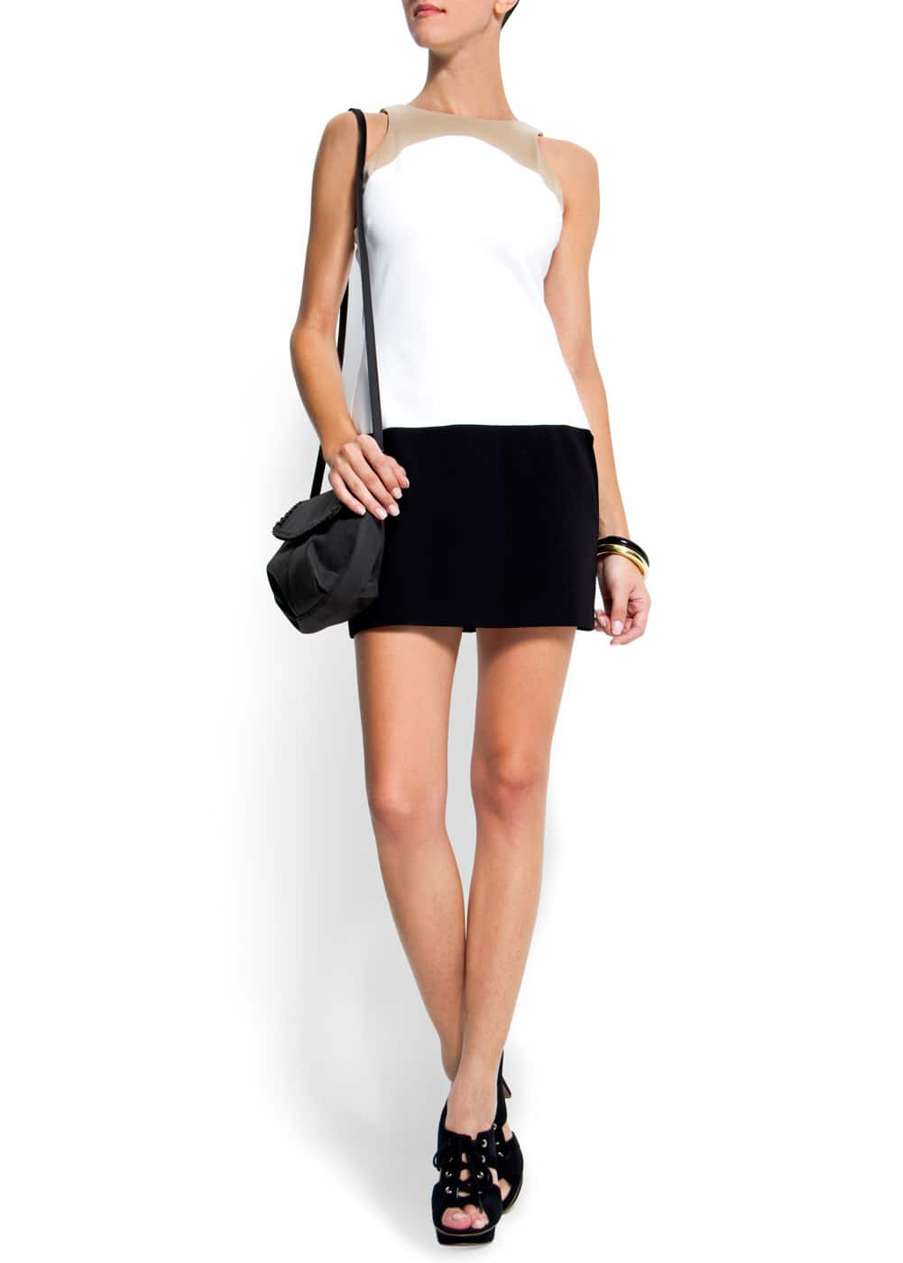 Sleeveless straight-cut dress   MANGO