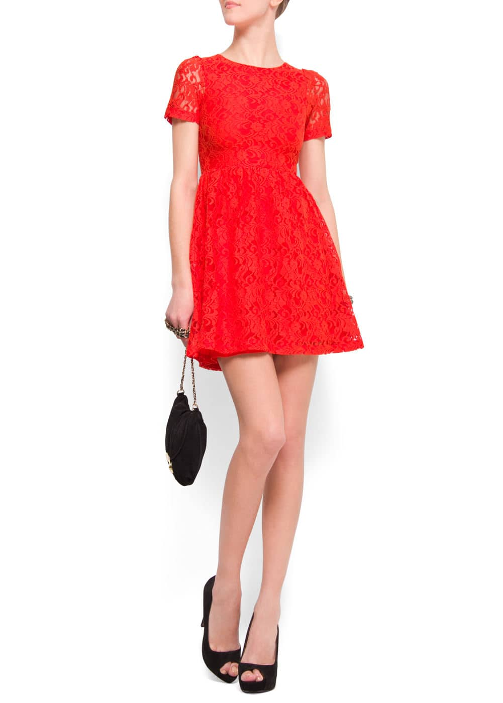 A-line lace dress | MANGO