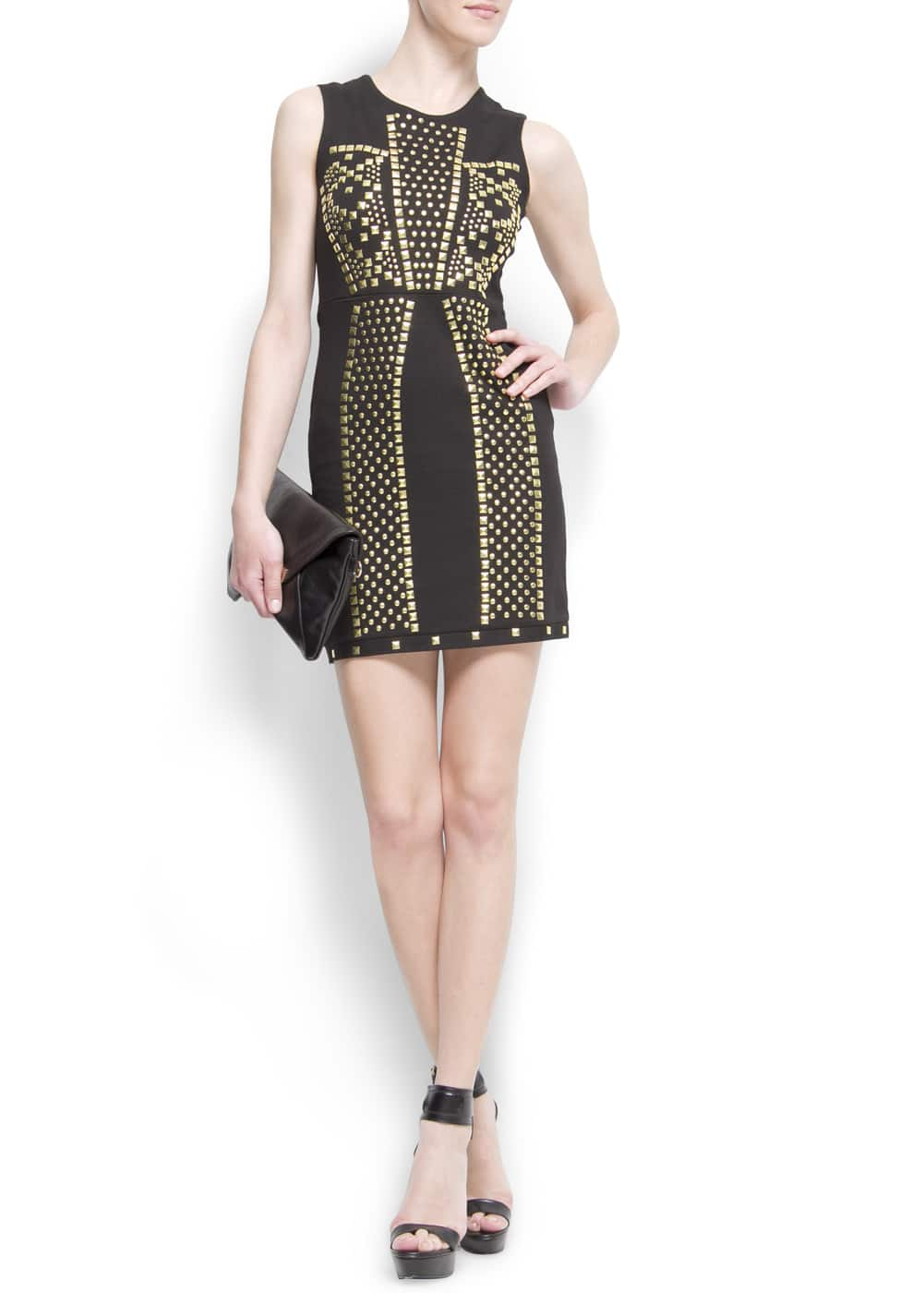 Studded cocktail dress | MANGO