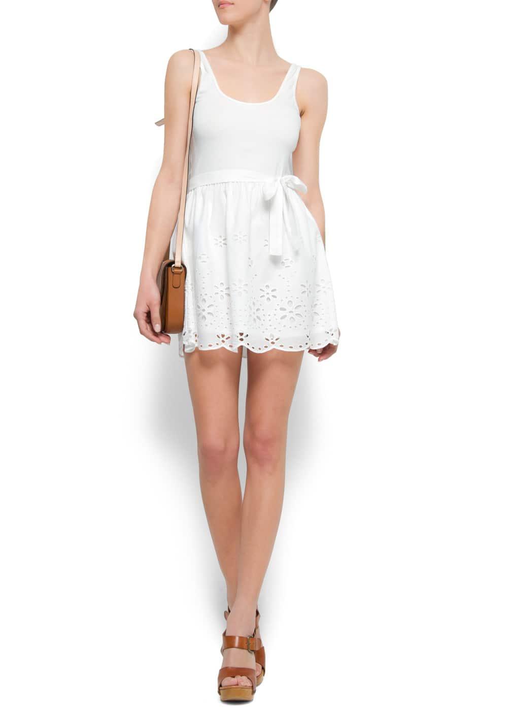 Flared embroidery dress | MANGO