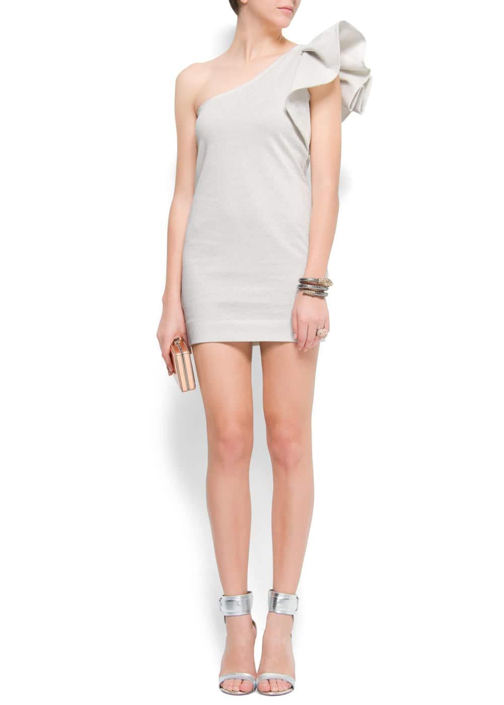 One shoulder dress | MANGO