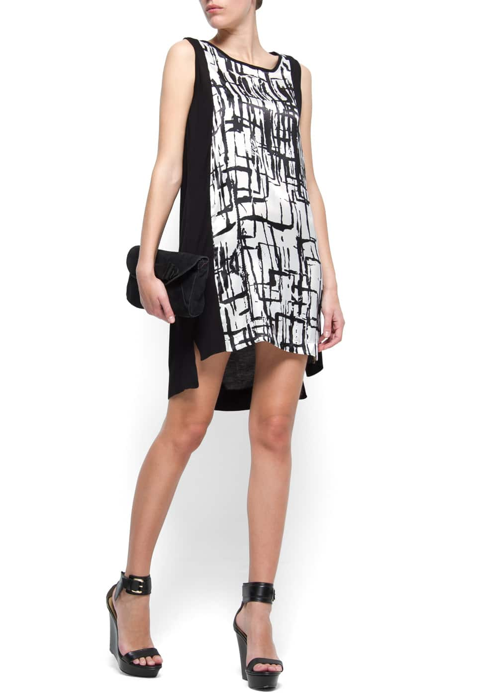 Print tail hem dress | MANGO