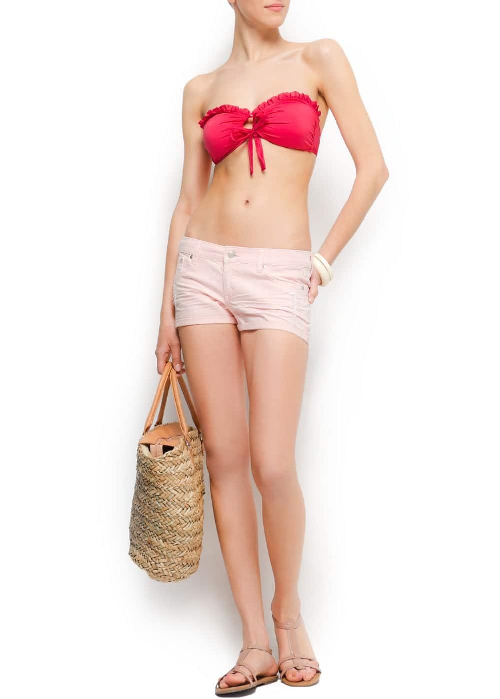 Ruffle detail bikini by guillermina baeza | MANGO