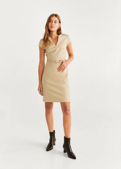 Платье-карандаш с ремешком - Cofi6-n от Mango