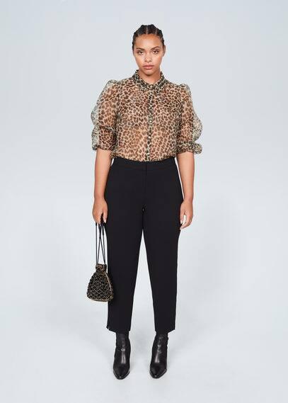 Леопардовая блузка из органзы - Organza