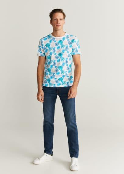 mango man - Bedrucktes baumwoll-t-shirt