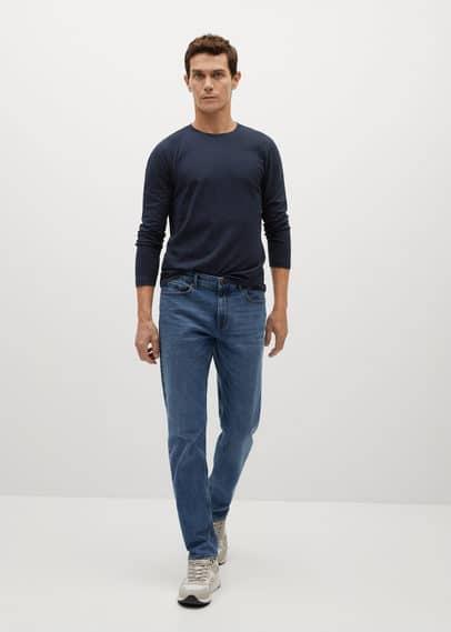 mango man - Langärmliges baumwoll-t-shirt