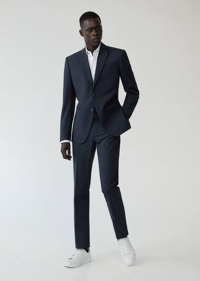 mango man - Slim fit anzughose aus wollstoff