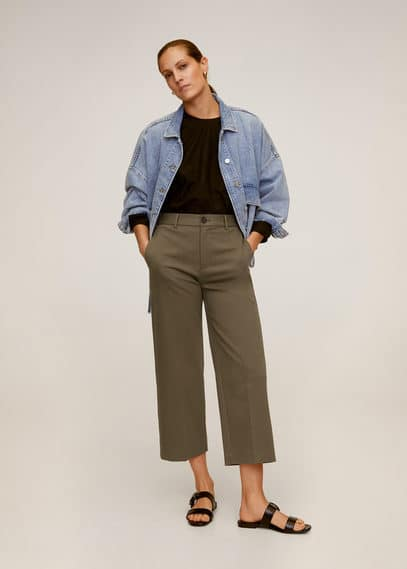 Укороченные брюки relaxed fit - Wide