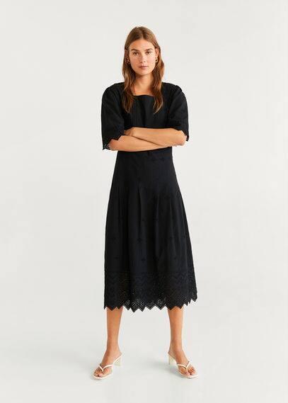 Ажурное платье из хлопка - Atlanta-h от Mango