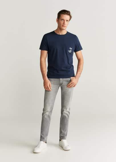 mango man - Baumwoll-t-shirt mit logo