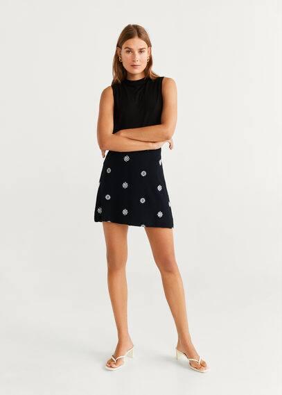 Принтованная мини-юбка - Antonio-h от Mango