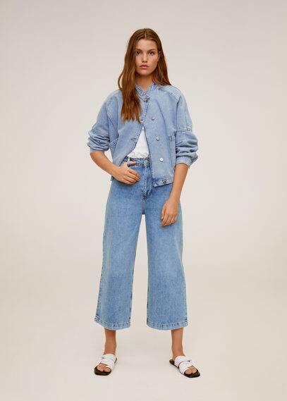 mango - Culotte jeans mit hoher bundhöhe
