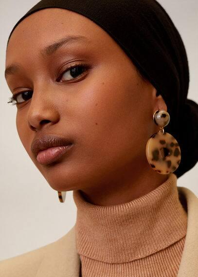 mango - Ohrringe mit schildplatt-effekt