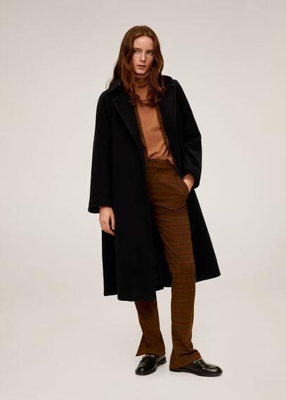 Полушерстяное пальто с поясом - Boy-i