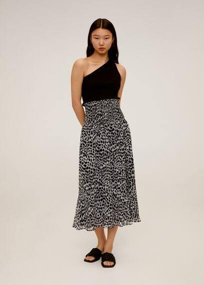 Миди-юбка леопард - Irene