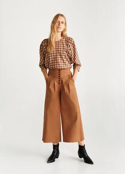 Расклешенные брюки из хлопка - Dori-h от Mango