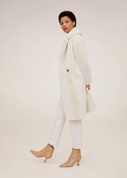 Меховое пальто с макси-лацканами - Chilly
