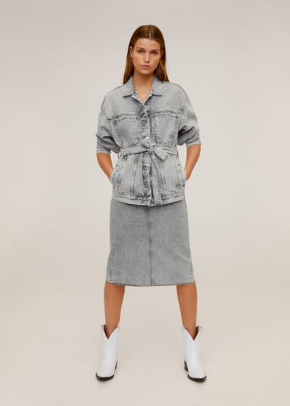 mango - Jeansjacke in washed-optik